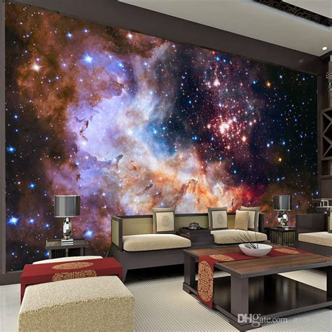 3d wall painting for your bedroom 3d gorgeous galaxy photo wallpaper custom silk wallpaper