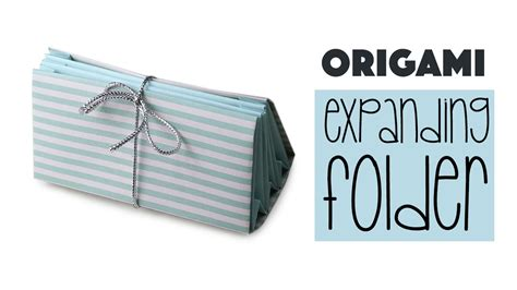 Origami File Folder - origami expanding folder tutorial diy