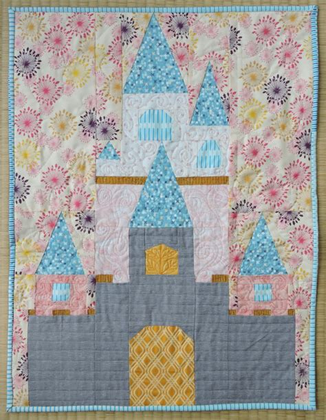 Castle Quilt by Disney Mini Quilt Sleeping S Castle Blossom