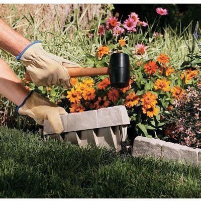 Stone Edging Creates A Decorative Border For Your Decorative Garden Edging Ideas