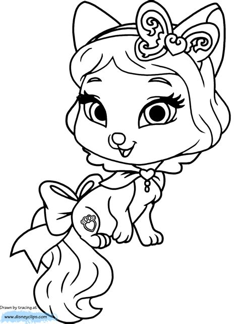 Princess Palace Pets Coloring Pages - Coloring Home