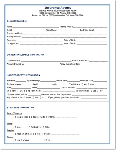 Homeowners Insurance Quote Request Form   44billionlater