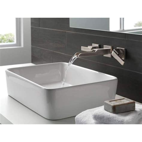 sink bathtub delta faucet t3568lf wl ara polished chrome wall mount