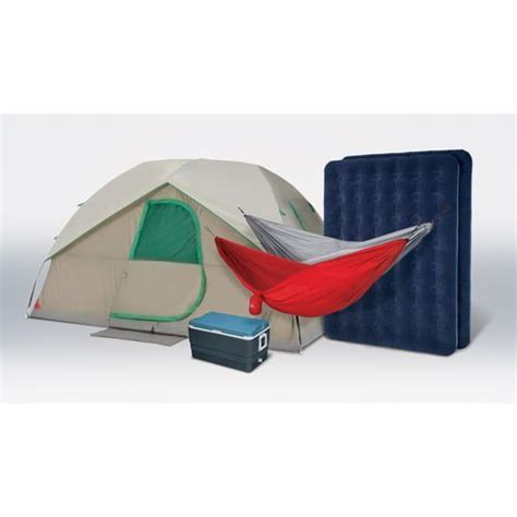 magellan outdoors cing kit with cooler tent 2 air beds and 2 hammocks for 159 clark deals