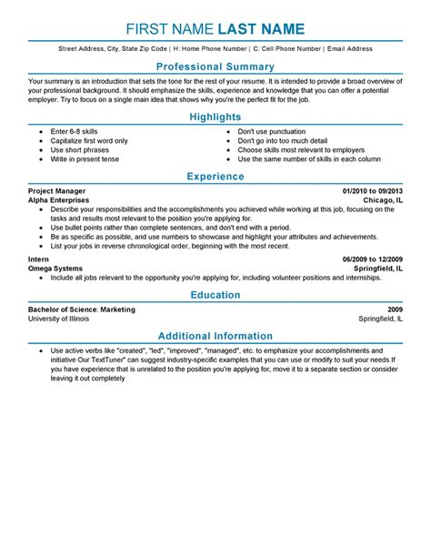 11 fresh sample resume for it professional experience resume