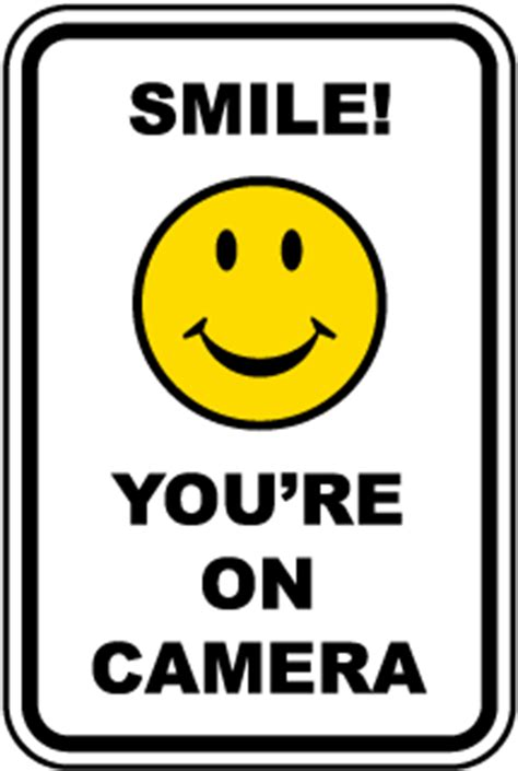 spanish smile you're on camera sign f8065sp by