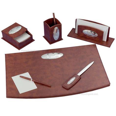 set scrivania pelle set scrivania class 5 pezzi pelle placca decoro