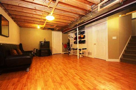 Basement Floor Finishing Ideas Unfinished Basement Flooring Ideas Robinson House Decor Cheap Basement Flooring Ideas