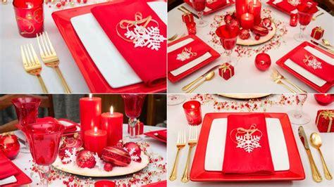 decoracion rojo y dorado decorar mesa de navidad en blanco rojo y dorado hogarmania