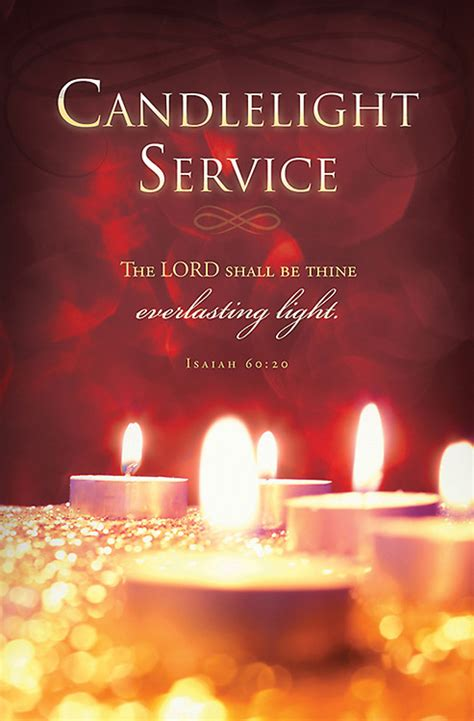 Candlelight Service Program - quot candlelight service quot bulletin isaiah 60 20 pkg