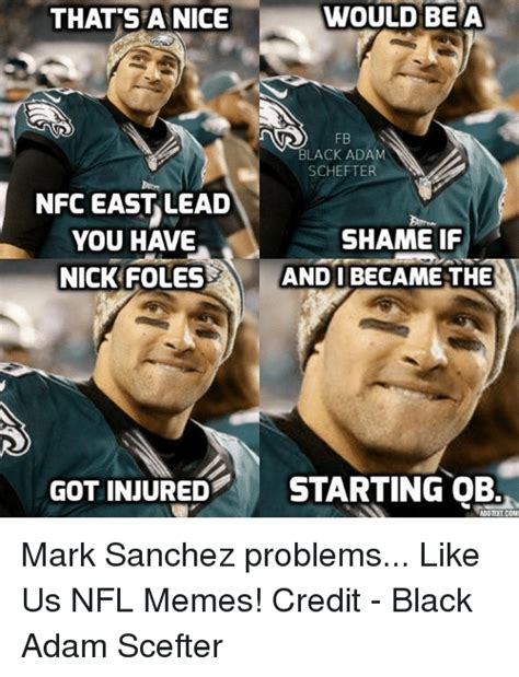 Nick Foles Meme - 124 funny mark sanchez memes of 2016 on sizzle