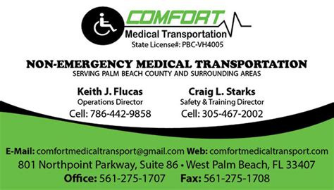 transport business card template comfort transport business cards