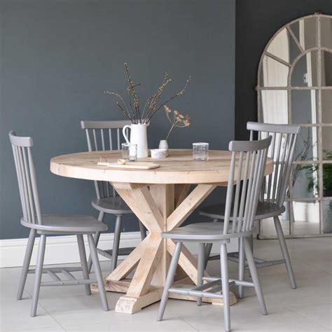 circular reclaimed wood  dining table home barn vintage