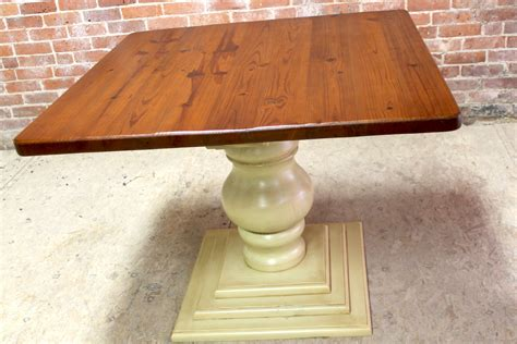 40in square dining table with pedestal base ecustomfinishes