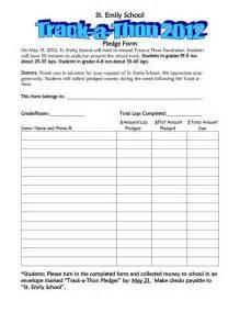 walk a thon pledge track a thon pledge form
