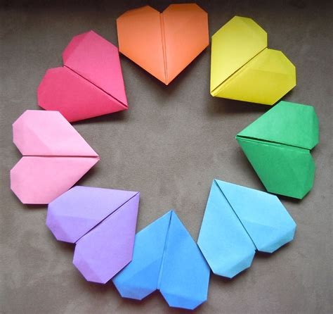 How To Make Origami Hearts - origami garland hiragana