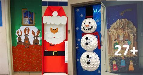 imagenes educativas puertas navidad 101 ideas para decorar la puerta de tu clase o sal 243 n en