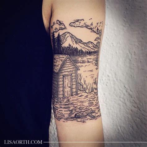 incognito tattoo thoreau inspired cabin for amanda done at incognito