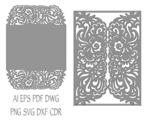 Free Wedding Gate Fold Card Template Silhouette by Gate Fold Wedding Invitation Laser Cut Card Pattern
