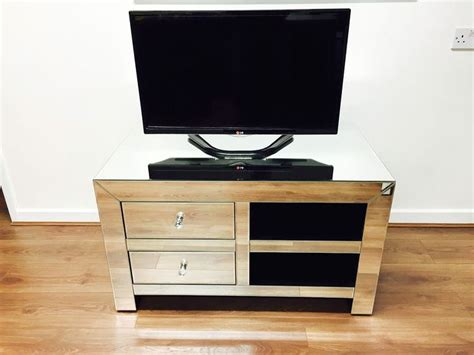 mirrored tv stand mirrored tv unit television cabinet coffee table silver