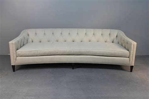 rounded back sofa midcentury rounded back sofa with button tufting for sale