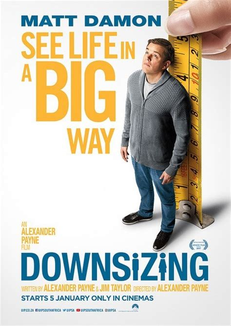 down sizing downsizing poster teaser trailer