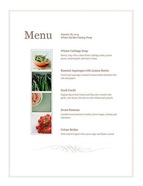 menu sle template design your own free menu template pos sector