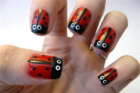 cute easy lady bug nail art youtube 10 cute and easy diy nail art ideas