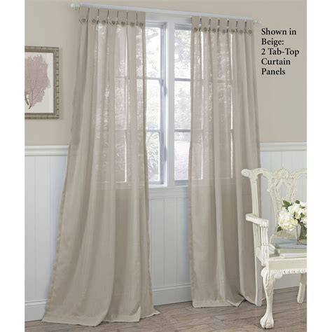 sheer curtains tab top easton tab top semi sheer curtain panels by laura ashley