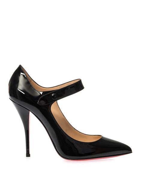 Patent Pumps lyst christian louboutin neo pensee 100mm patent leather