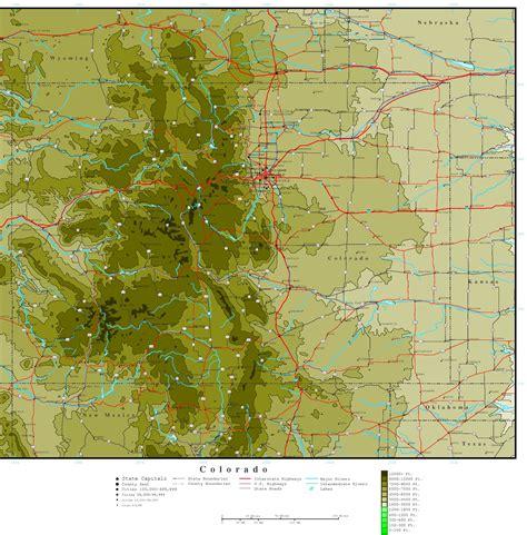 maps of colorado colorado elevation map