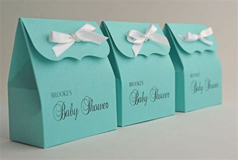personalized blue favor bags with ribbon baby shower