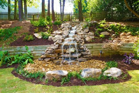 waterfall designs for backyards 75 relaxing garden and backyard waterfalls digsdigs