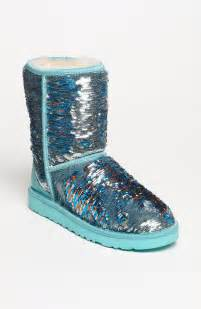 Ugg classic short sparkle boot in blue teal turquoise lyst