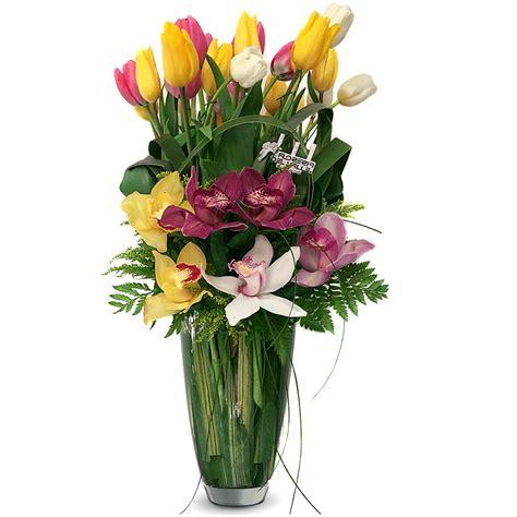 floreros s a florero italiano con tulipanes y orqu 237 deas florer 237 a del