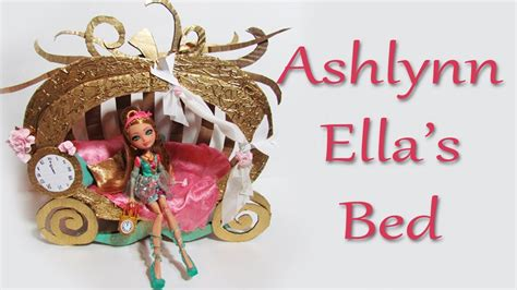 ever after high beds how to make ashlynn ella s bed ever after high youtube