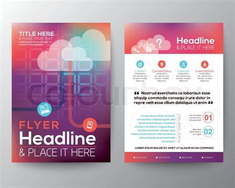 flyer design wiki abstract brochure flyer design layout vector template in