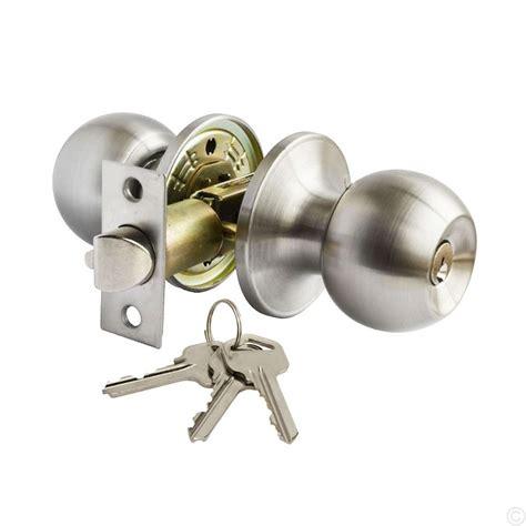 Door Knob Key by Stainless Steel Key Locking Entrance Door Knob Set