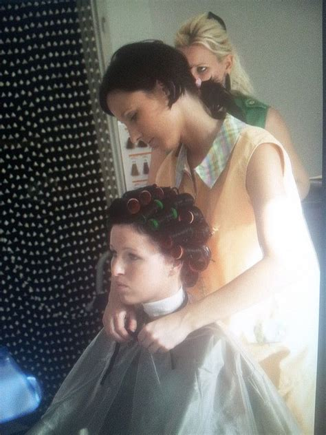 she set his hair in curlers 82 best images about rollers rods and dryers on