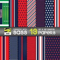 pattern maker houston digital paper denver football sports blue orange