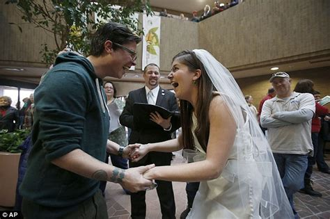 Lake County Clerk S Office by Utah Marriage Is Allowed To Continue As Jubilant