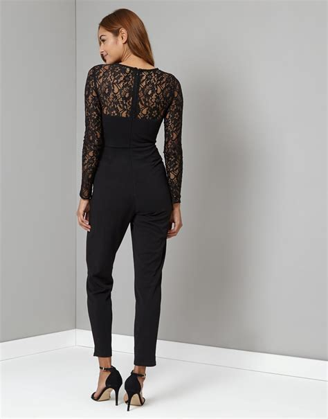 Place Jumpsuit lipsy sleeve lace top jumpsuit lipsy