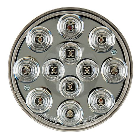 led truck and trailer lights w clear lens 4 led