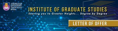 Offer Letter Ipsis letter of offer for post graduate studies