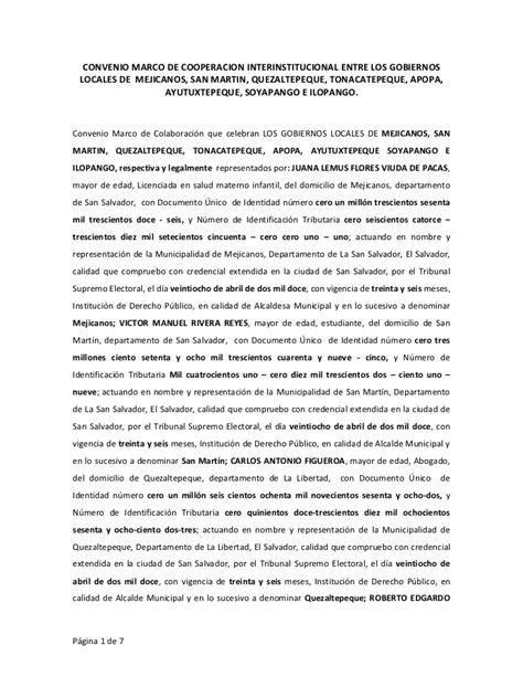 convenio de cooperacin interinstitucional entre convenio de cooperaci 243 n entre alcald 237 as de san martin