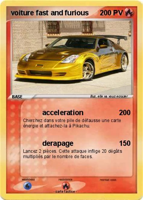 Pok 233 Mon Voiture Fast And Furious Acceleration Ma Carte Coloriage De Voiture De Fast And Furious