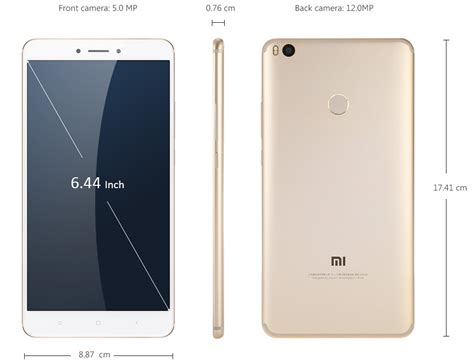 Xiaomi Mi Max 332 Gold 4g xiaomi mi max 2 6 44 inch 4gb 64gb 12mp 4g lte dual sim gold global version ebay
