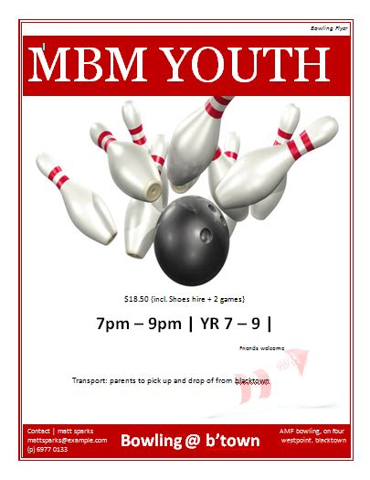 Bowling Flyer Template Microsoft Word Templates Bowling Event Flyer Template