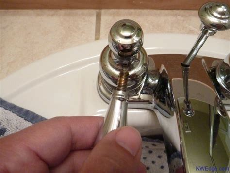 how to fix a leaking delta two handle bathroom faucet remove faucet handle northwest edge