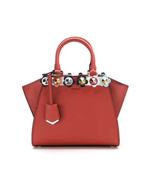 Fendi 3jours Stud Set Seprem fendi 3jours mini floral stud tote bag pattern in bloody modesens